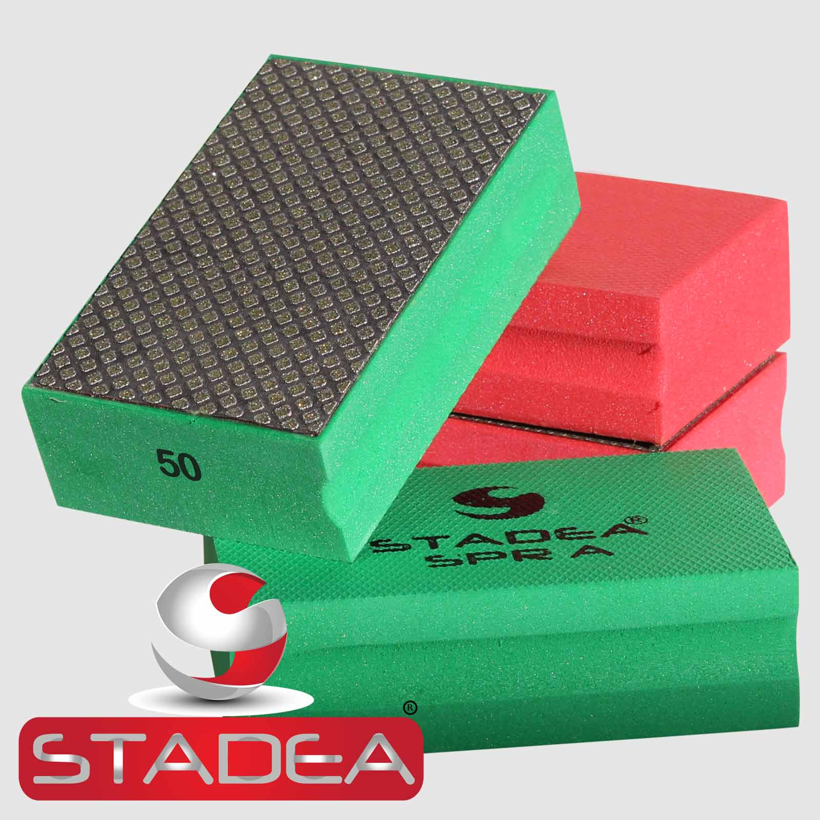 Stadea Diamond Hand Polishing Pads Set Marble Glass Stone
