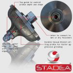 STADEA Diamond Profile Wheel Hand Profiler Granite Stone Marble Concrete – Series Std A