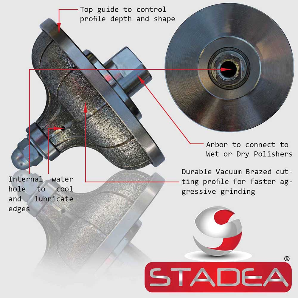 Stadea Diamond Profile Wheel Hand Profiler Granite Stone