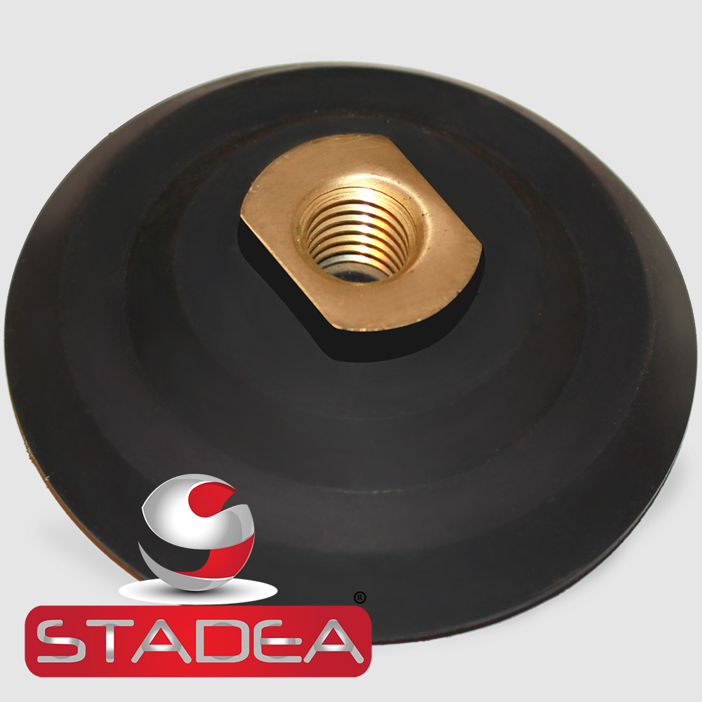 """5 Inch Rubber Backer Pad//Hook and Loop Backing Pad with Arbor 5//8/""""-11 for"""
