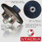 STADEA Diamond Profile Wheel Hand Profiler Granite Marble Stone Concrete – Series Spr A